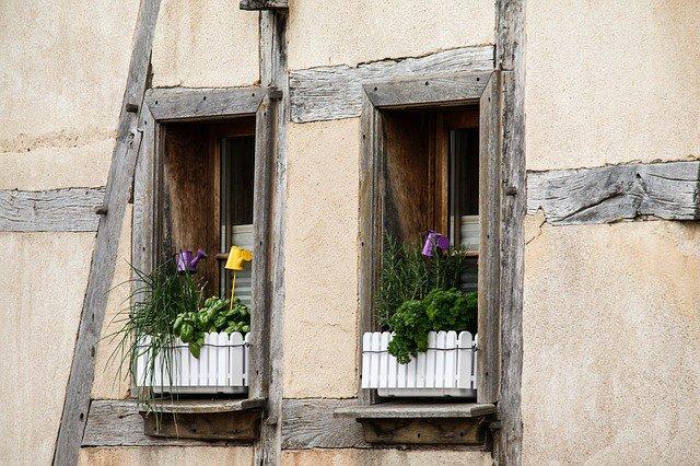 Kruiden op de vensterbank